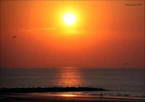 Sunset over the North Sea by Patguli