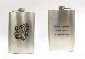 Warden's flask by Katlinegrey