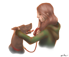 Dog And Girl by skill0