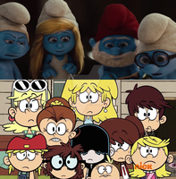 The Loud Sisters Meets The Smurfs by mixelfangirl100