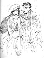 holiday sketch 3-peter and mj by deemonproductions