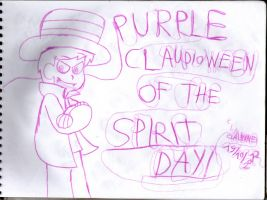 Purple Claudioween of the Spirit Day by claudinei230