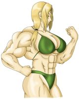 Tsunade flexing by MarianGTS