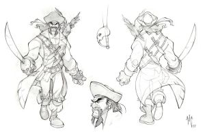 pirate model sheet by ZurdoM