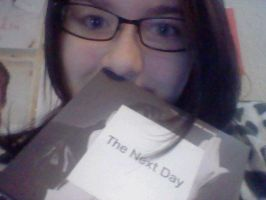 Me with my David Bowie Album, The Next Day by EZZIELUVSDAVIDBOWIE