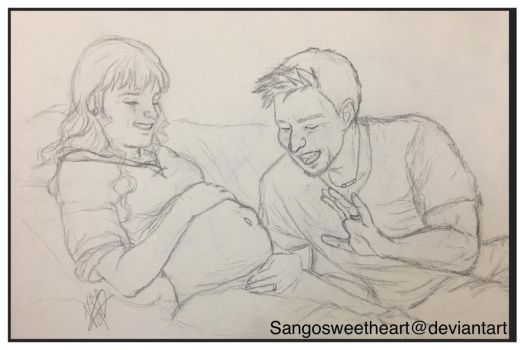 Anastasia and Alistair happy parents to be by Sangosweetheart