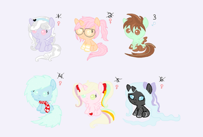 Kawaii Pony Adoptables (CLOSED) by ArtsyMuffin