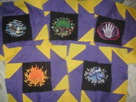 5 Element Quilt WIP part 3 by WillowForrestall
