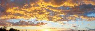 Sunset Sept 28th Panorama by Phenix59