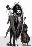 Mr. Skeleton - Scary Mirror by Monochrome-Clown