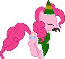 Pinkie the elf has a bear by sakatagintoki117
