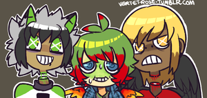 two beheaded dudes and a queasy kid by scarlettwing