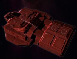 Hasker Combat Shuttle 04 by MADMANMIKE