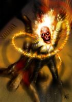 Ghost Rider and Johnny Blaze - Hell Fire by nielisson