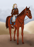 Ulla, Rider of Rohan by 7fn