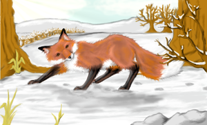 Winter Fox by philosophyfox