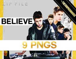 9 Justin Bieber's PNG Pack. BELIEVE. ZIP. by TheSoophCaraveo