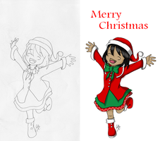 Merry Christmas - Scan 'n Paint by shinjuco