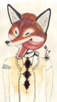the red fox. by littledancing