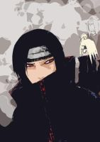 Itachi and Deidara by crimsonlenzo