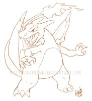 Charizard sketch by ZombiDJ
