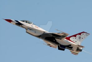 Thunderbird 5 High A.O.A. by AirshowDave