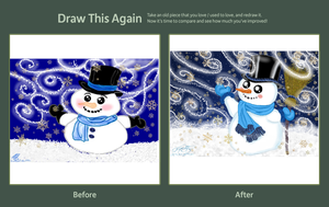 Draw This Again Contest Joyful Snowman by E-Ocasio