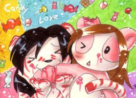 ACEO - Candy Love by Pandablubb