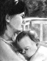 Mom and Baby Charcoal by accasperberry3