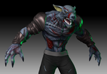 Zombie Lycan WIP 4 by nemesis222