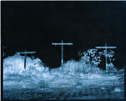Crucifixes - Negative + Blue by Psychedelic-Freak