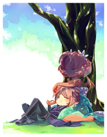 Skeleton Farm: Spring Nap by Suguri