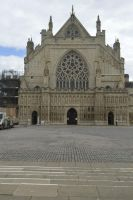 Exeter Cathedral outside view by Clangston