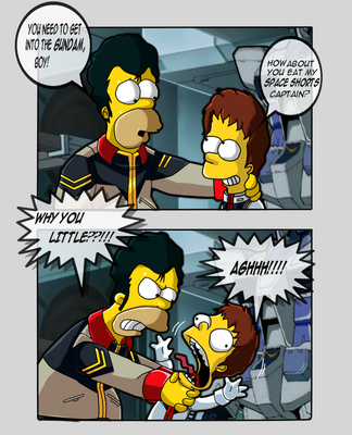 Just get into the gundam!! XD by Banagherlinks