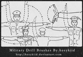 MilitaryDrill_Brush_By_heykid by heeykiid