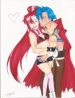 Yoko and Kamina by Ms-Catastrophie