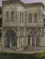 Cloisters by oldhippieart