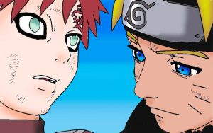 Naruto and Gaara Color by Trees1225