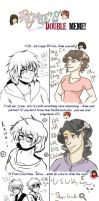 DOUBLE MEME WITH AKITOKUN1 by roses-and-phantoms
