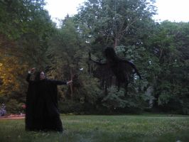 Severus Snape fighting a Dementor by Thom-Heap
