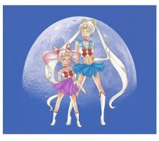 Sailor Retro Moon by PinkPigtails