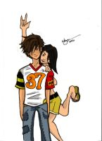 Young Couple 001 +Colored+ by slick-rick3715