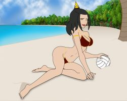 Azula at the beach by Megaloglossus