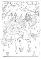 Winter Fairytale -lineart- by Twigileia