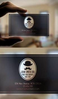 Transparent Business Card by Nyz87