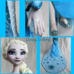 Disney's Frozen Ice Queen Elsa Ooak Doll Details by DaisyDaling
