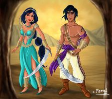 ALADDIN AND JAZMIN VERSION 2 by FERNL