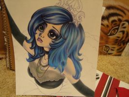 WIP: Princess Luna Humanized by Christinies