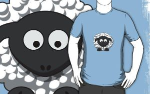 Cartoon Sheep T by sicklilmonky