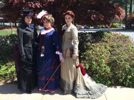 Femme Victorian Sherlock, Watson, and Mycroft by Timestitcher